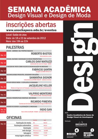 Semana Acadêmica dos Cursos de Design 2012
