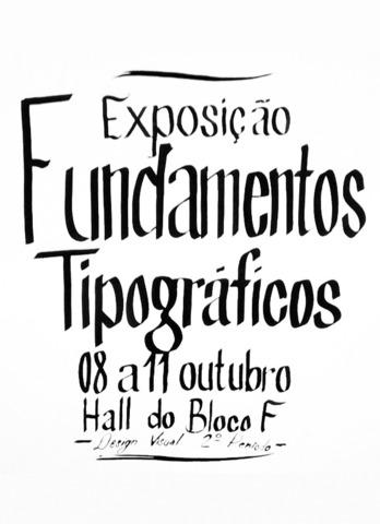 Exposição Fundamentos Tipográficos