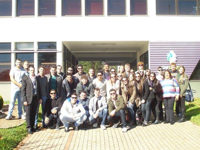 Viagem de estudos do curso de Administração da UNOCHAPECÓ a Porto Alegre/RS