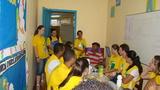 Café da manhã no alojamento com presença do prefeito de Vitória do Jari
