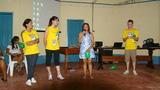 articipante do curso do dia 11/07 (relatado acima) dando depoimento no final da palestra e agradecendo os estudantes pelo trabalho.