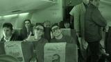 Tiago e Marcos durante o vôo.