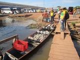 Km Zero (Gutierrez) uma das comunidades ribeinhas de Careiro da Varzea onde atuamos