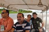 Prof. Felipe e a Vice prefeita - na frente esquerda o prof Sinival Pitaguari da UEL e o gerente de endemias de Careiro da Varzea