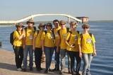 Ao fundo estação de captação de água dentro do Rio Paraguai-MS