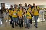 Equipe da Unochapecó com o Secretário de Turismo da cidade de Guia Lopes da Laguna-MS, Wilson, representante do município no Projeto Rondon