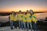 Nascer do sol no rio Paraguai em Corumbá-MS