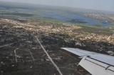 Sobrevoando o rio Paraguai e a cidade de Corumbá-MS