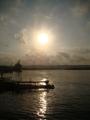 Nascer do sol no rio Jari.