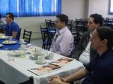 <p>Ricardo Fachinello e Rafael Rosina da Volt Eletrônica Industrial juntos de Paulo Marcos de Souza empreendedor da Tools Log.</p>