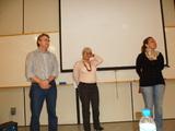 <p>Instrutores do seminário Jaime Folle,Helena Pereira eSilvana Alvin.</p>