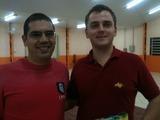<p>O empreendedor Lara junto de Vinicius, da Empresa Life Soluções.</p>