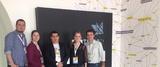 <p>Vitor Andrade, Gestor de Operações da Startup Brasil, Andreici Vedovatto, Analista Técnica da INCTECh, Marcos Oliveira, do núcleo de incubação do Porto Digital, Franciele Pastre, Coordenadora da INCTECh e Márcio Brito, do Sebrae Nacional.</p>