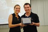 <p>Entrega de placa de referência em plano de negócios, para o empreendedor Sergio Vinicius Vanin</p>