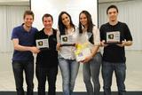<p>Vencedores da Primeira Maratona da Inovação Unochapecó</p>