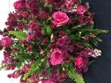 <p>As flores rosas fizeram parte da decoração alusiva a campanha.</p>