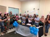 <p>Aniversariantes do CAC (Centro de Atendimento à Comunidade) e Ceom (Centro de Memória do Oeste de Santa Catarina). Parabéns!</p>