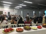 <p>O tema abordado foi a qualidade de vida e saúde da mulher, pensando nisso as mulheres foram recebidas com uma mesa de frutas fresquinhas.</p>