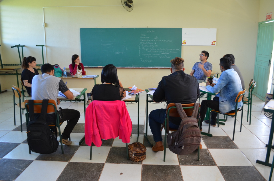 <p>Professor Jorge é um dos bolsistas de pós-doutorado da Unochapecó e realiza sua pesquisa sobre o processo de ensino nas comunidades indígenas</p>