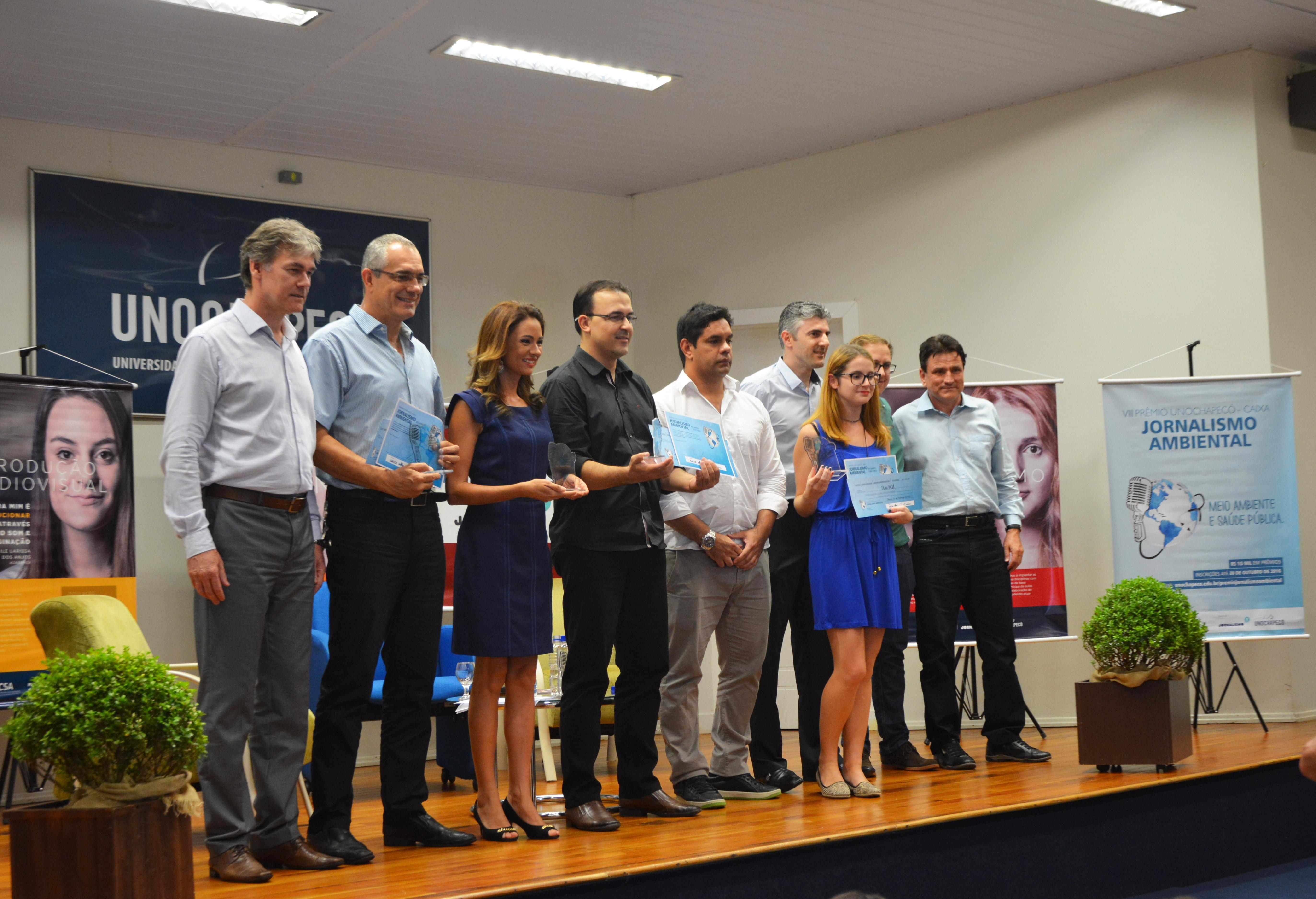 Uno homenageia os vencedores do Prêmio de Jornalismo Ambiental