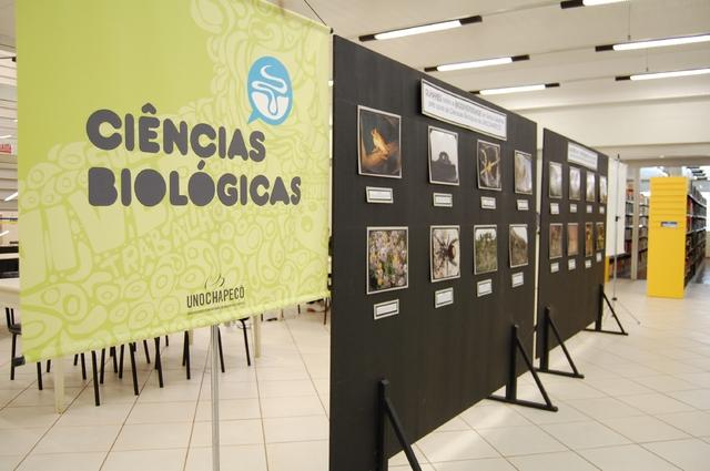A mostra fotográfica, que apresenta a fauna e a flora do estado, está acontecendo na biblioteca da Unochapecó até o dia 22/10