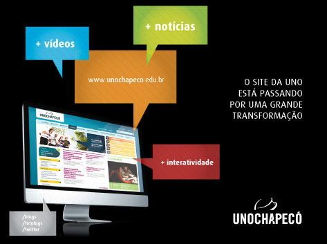 O novo portal da Unochapecó surgiu da necessidade de modernizar a linguagem – tanto textual quanto visual – da principal ferramenta de comunicação institucional