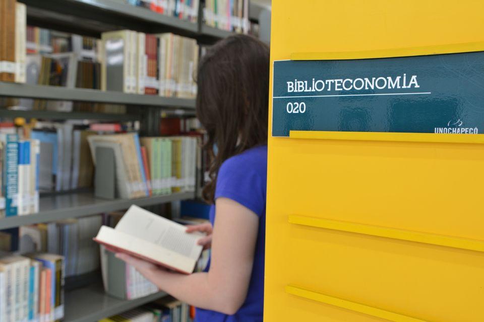 Acadêmicos do curso de Biblioteconomia em contato com a profissão