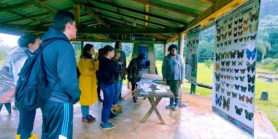 Calouros de Ciências Biológicas conhecem a Floresta Nacional de Chapecó