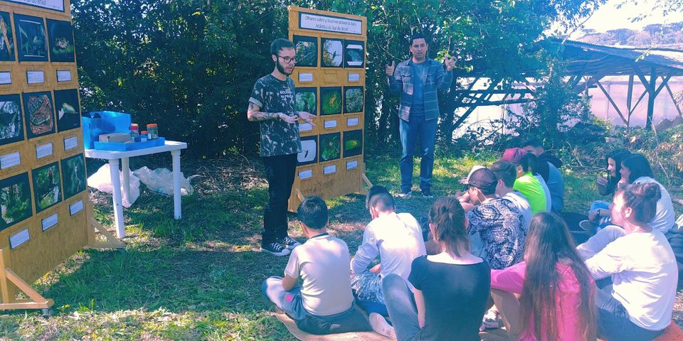 Biologia na Praça realiza oficinas na Escola Marcolina Rodrigues