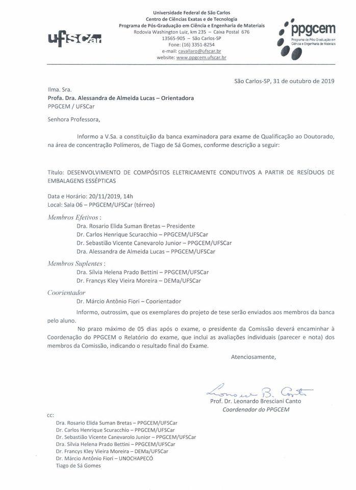 ALUNOS DO DINTER UFSCAR/UNO ENCERRAM APRESENTAÇÕES DO EXAME DE QUALIFICAÇÃO