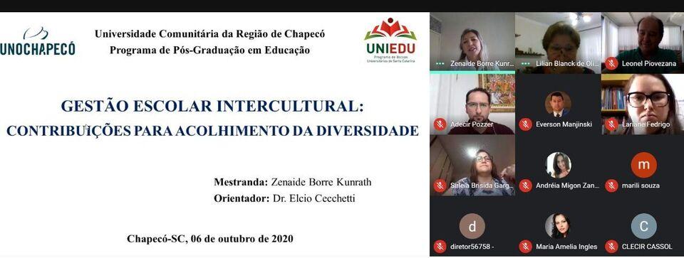 A mestranda Zenaide Borre Kunrath defendeu  a 120ª dissertação no Programa