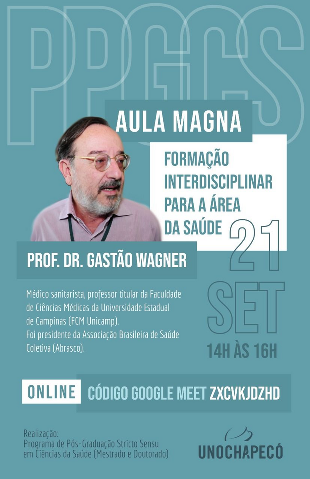 Aula Magna aborda o tema  Formação Interdisciplinar para a Área da Saúde
