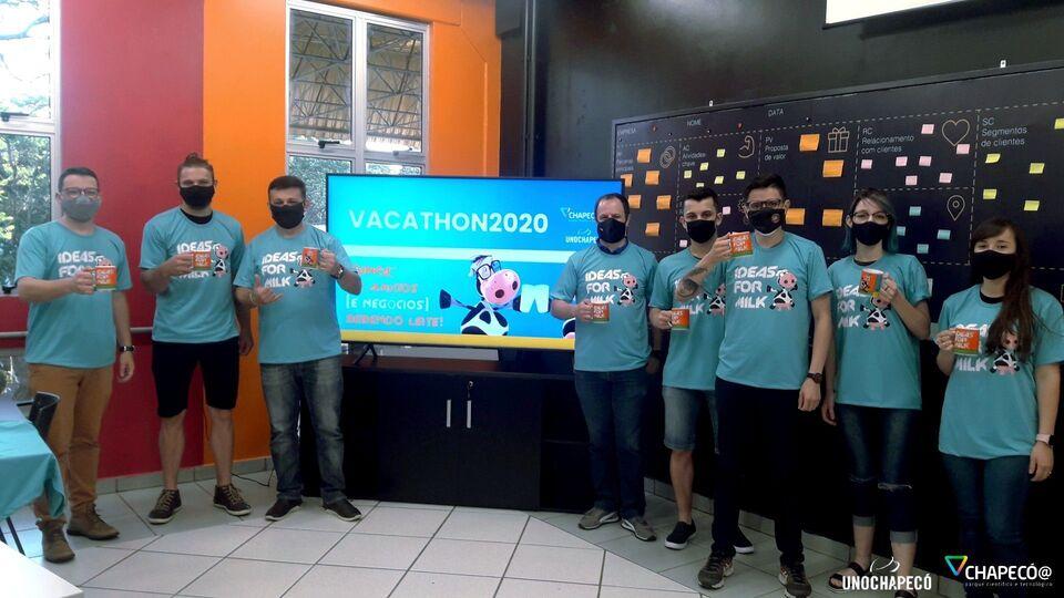 Equipe da Unochapecó divide pódio com USP e UFRJ no Vacathon 2020