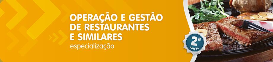Operação e Gestão de Restaurantes e Similares